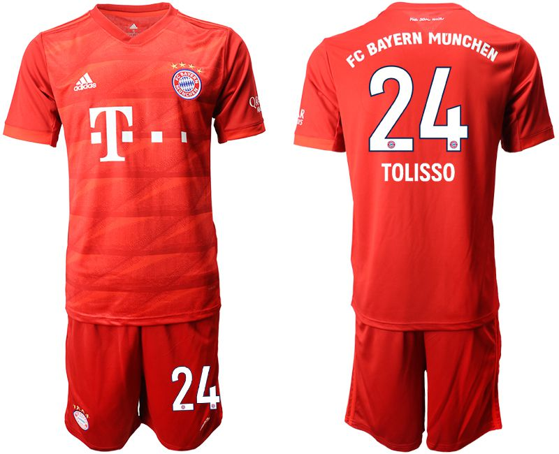 Men 2019-2020 club Bayern Munich home 24 red Soccer Jerseys