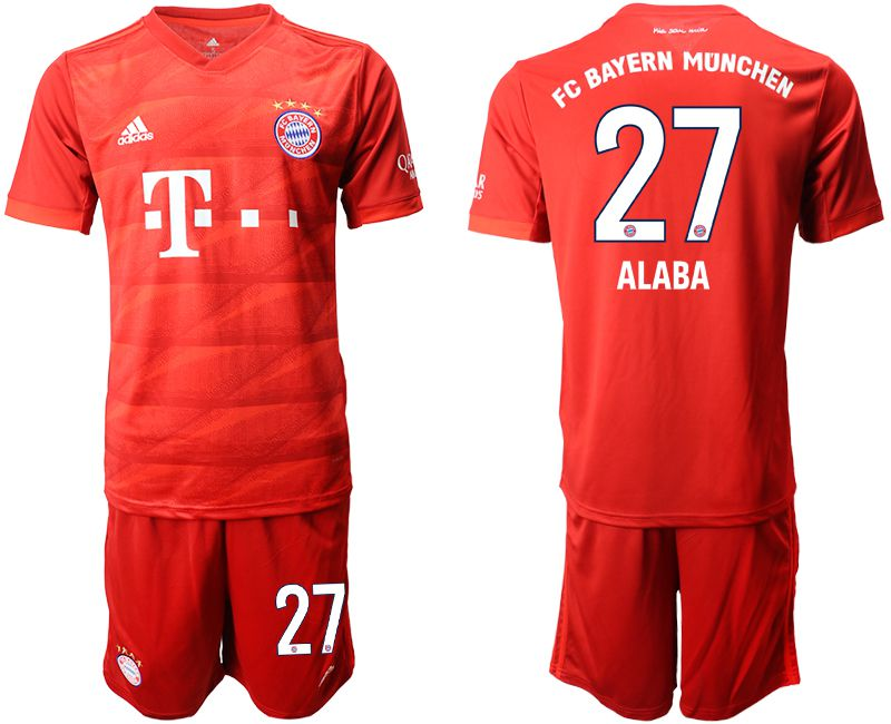 Men 2019-2020 club Bayern Munich home 27 red Soccer Jerseys
