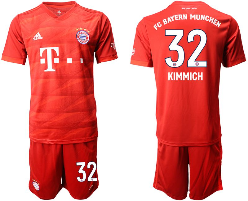 Men 2019-2020 club Bayern Munich home 32 red Soccer Jerseys
