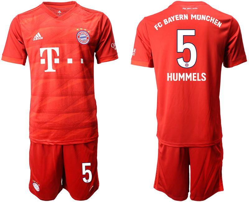 Men 2019-2020 club Bayern Munich home 5 red Soccer Jerseys
