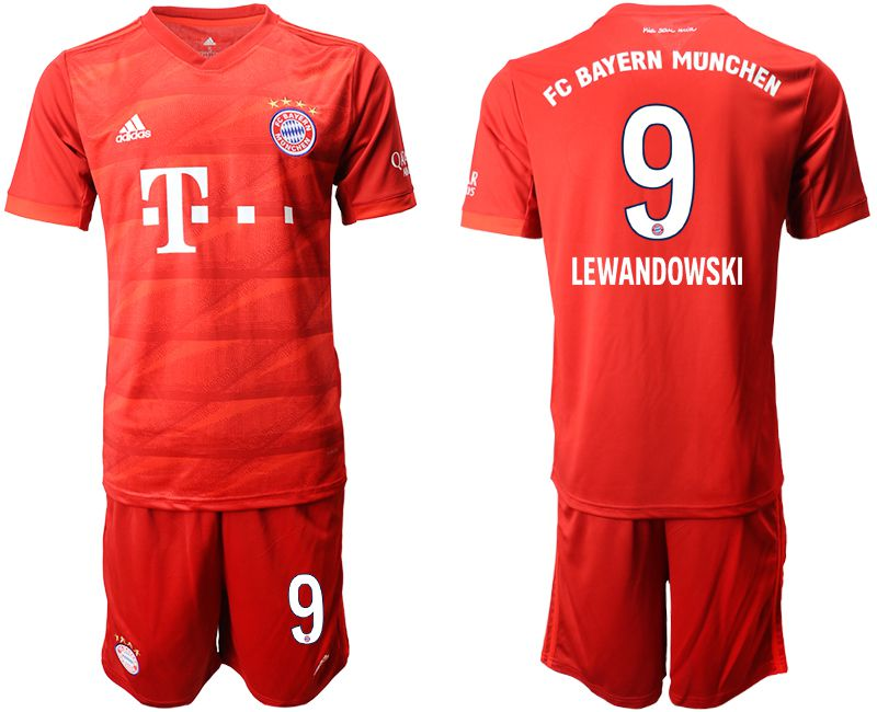 Men 2019-2020 club Bayern Munich home 9 red Soccer Jerseys