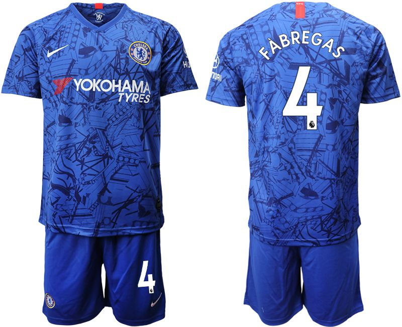 Men 2019-2020 club Chelsea FC home 4 blue Soccer Jerseys