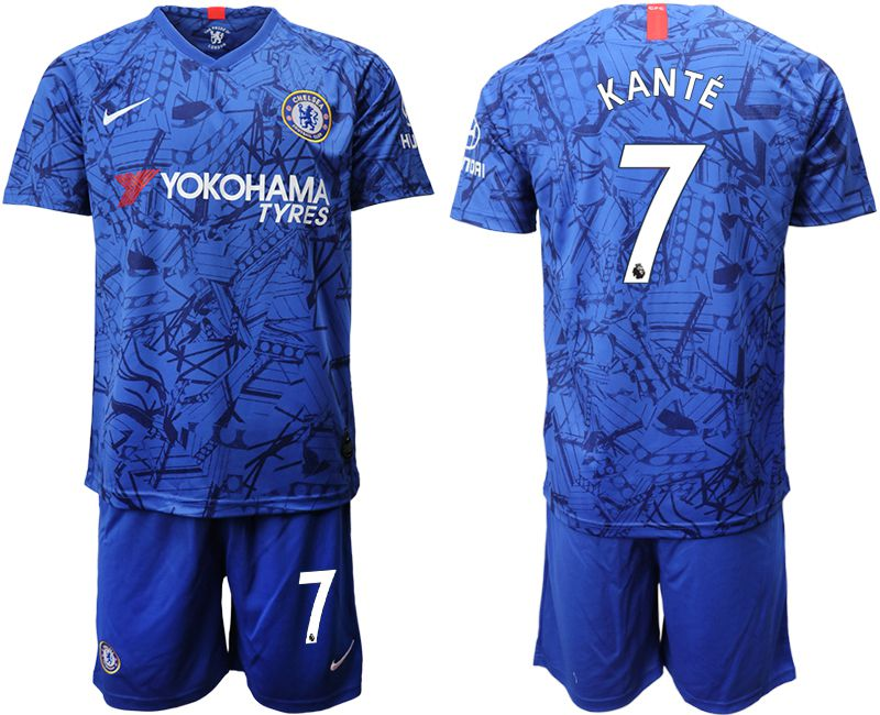 Men 2019-2020 club Chelsea FC home 7 blue Soccer Jerseys