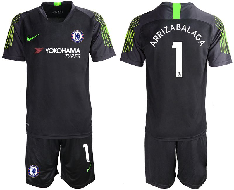 Men 2019-2020 club Chelsea black goalkeeper 1 Soccer Jerseys