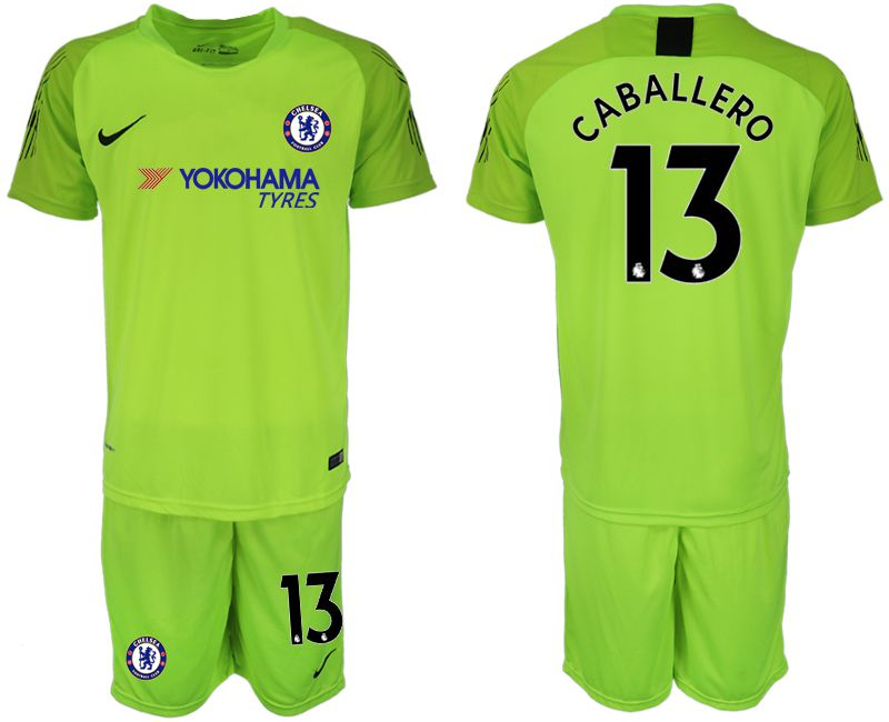 Men 2019-2020 club Chelsea fluorescent green goalkeeper 13 Soccer Jerseys1