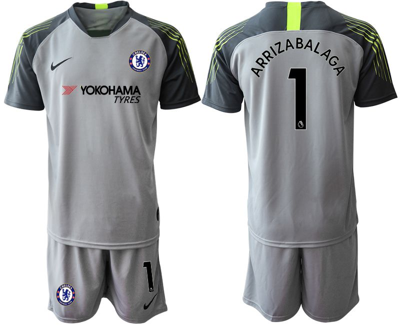 Men 2019-2020 club Chelsea gray goalkeeper 1 Soccer Jerseys