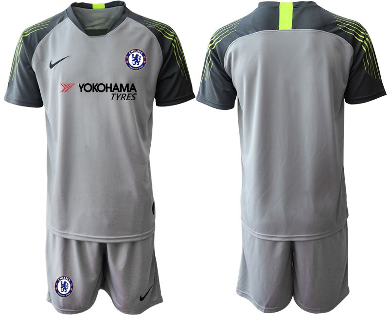 Men 2019-2020 club Chelsea gray goalkeeper Soccer Jerseys