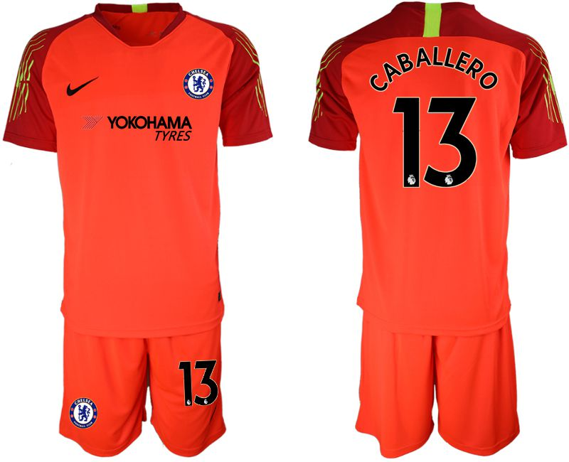 Men 2019-2020 club Chelsea red goalkeeper 13 Soccer Jerseys