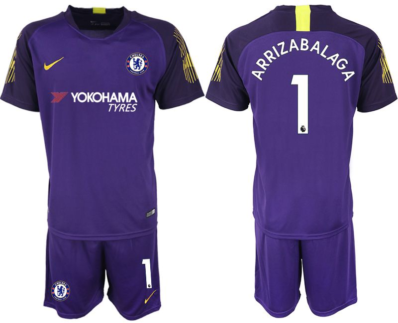 Men 2019-2020 club Chelsea violet goalkeeper 1 Soccer Jerseys