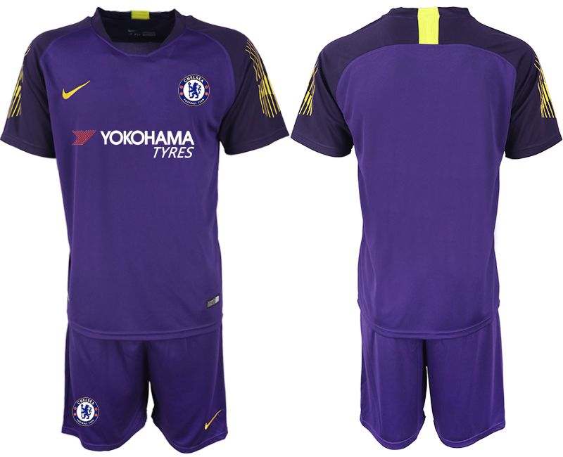Men 2019-2020 club Chelsea violet goalkeeper Soccer Jerseys