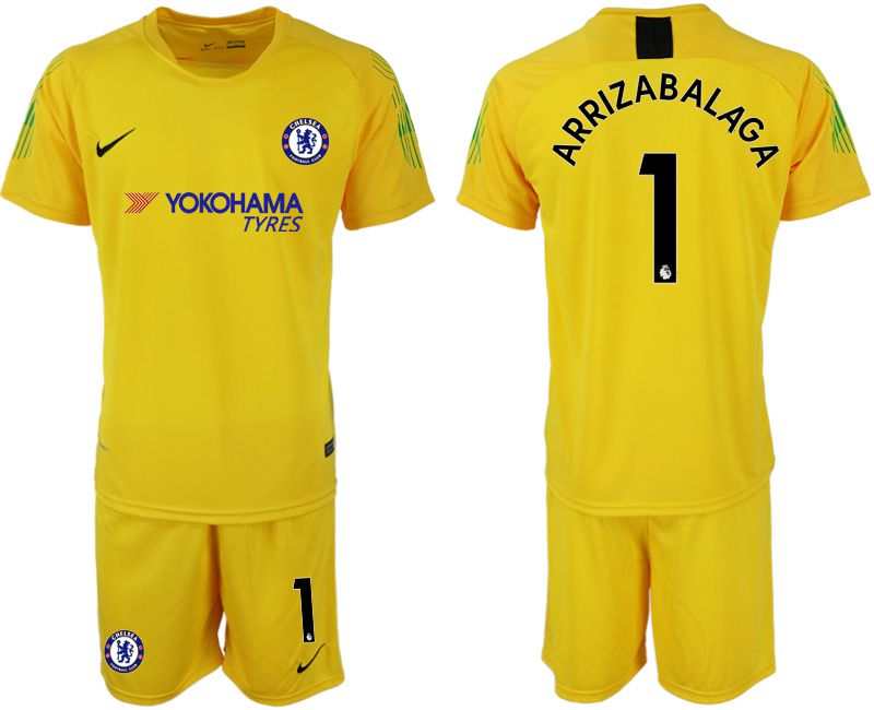 Men 2019-2020 club Chelsea yellow goalkeeper 1 Soccer Jerseys
