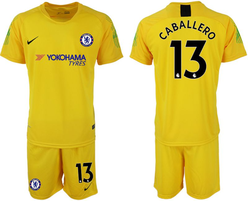 Men 2019-2020 club Chelsea yellow goalkeeper 13 Soccer Jerseys