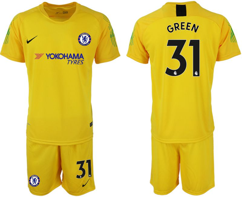 Men 2019-2020 club Chelsea yellow goalkeeper 31 Soccer Jerseys