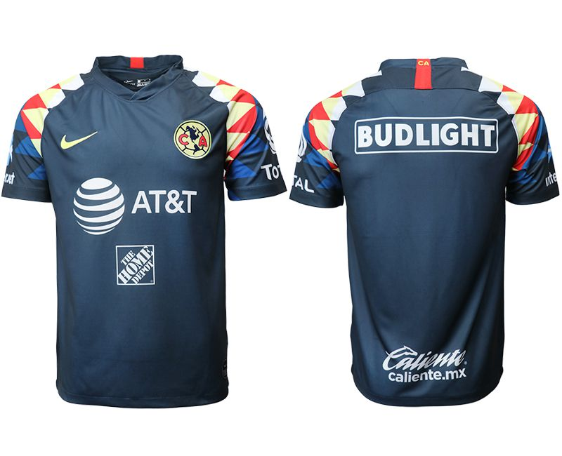 Men 2019-2020 club Club America away aaa version blue Soccer Jerseys