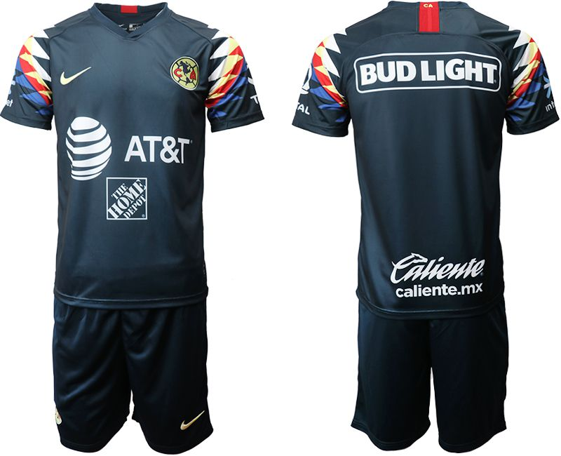 Men 2019-2020 club Club America away blue Soccer Jerseys