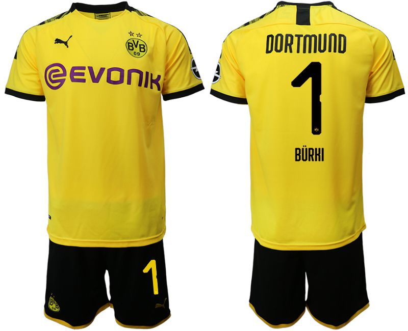 Men 2019-2020 club Dortmund home 1 yellow Soccer Jerseys(2)