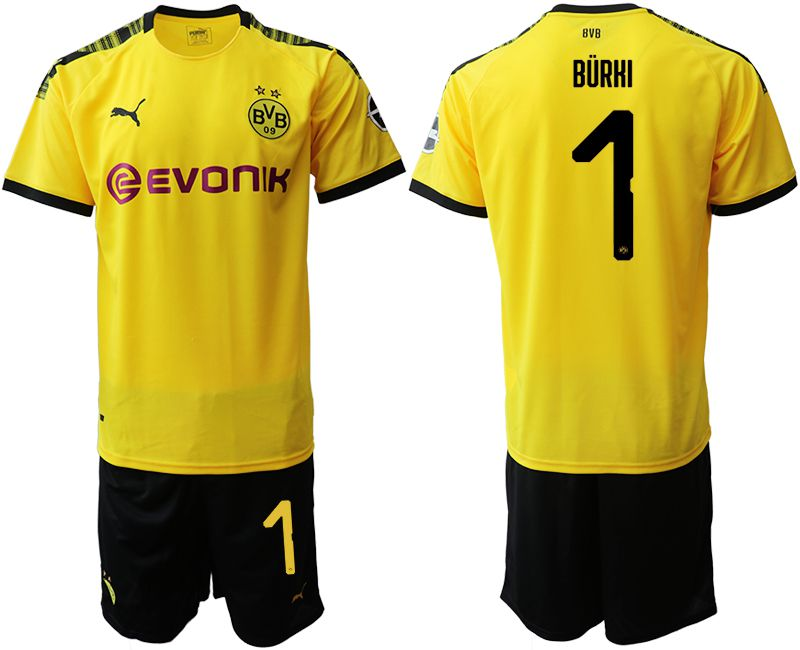 Men 2019-2020 club Dortmund home 1 yellow Soccer Jerseys