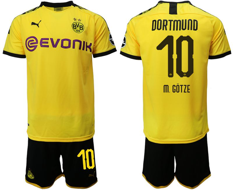Men 2019-2020 club Dortmund home 10 yellow Soccer Jerseys(2)