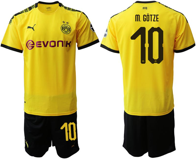 Men 2019-2020 club Dortmund home 10 yellow Soccer Jerseys