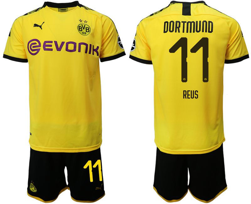 Men 2019-2020 club Dortmund home 11 yellow Soccer Jerseys