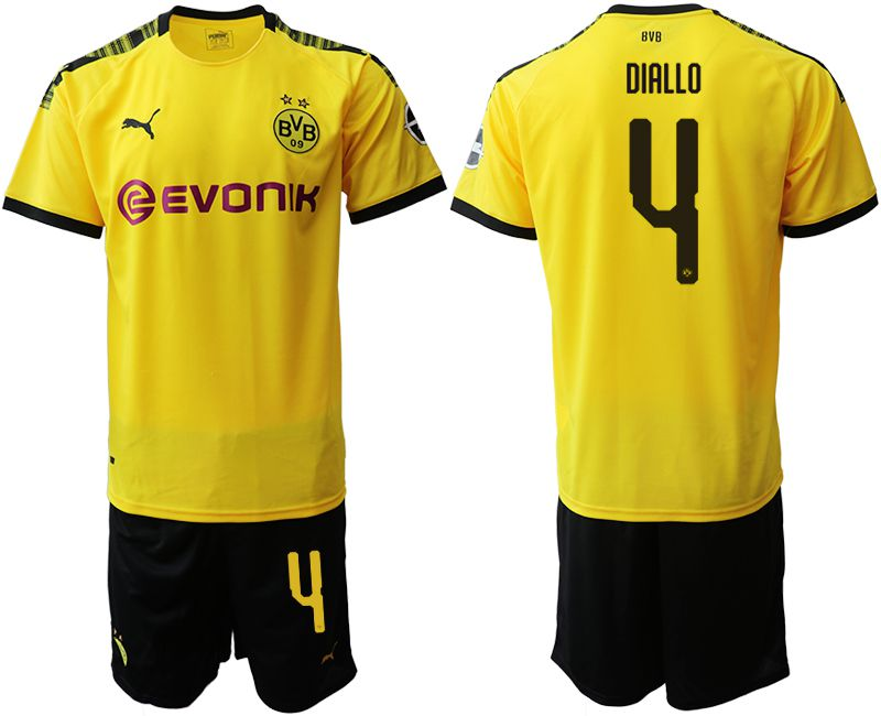 Men 2019-2020 club Dortmund home 4 yellow Soccer Jerseys
