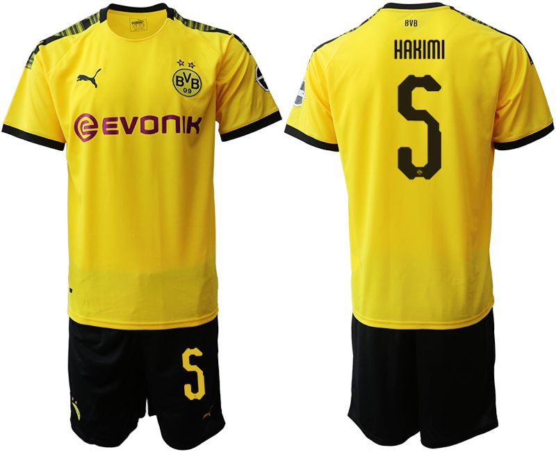 Men 2019-2020 club Dortmund home 5 yellow Soccer Jerseys