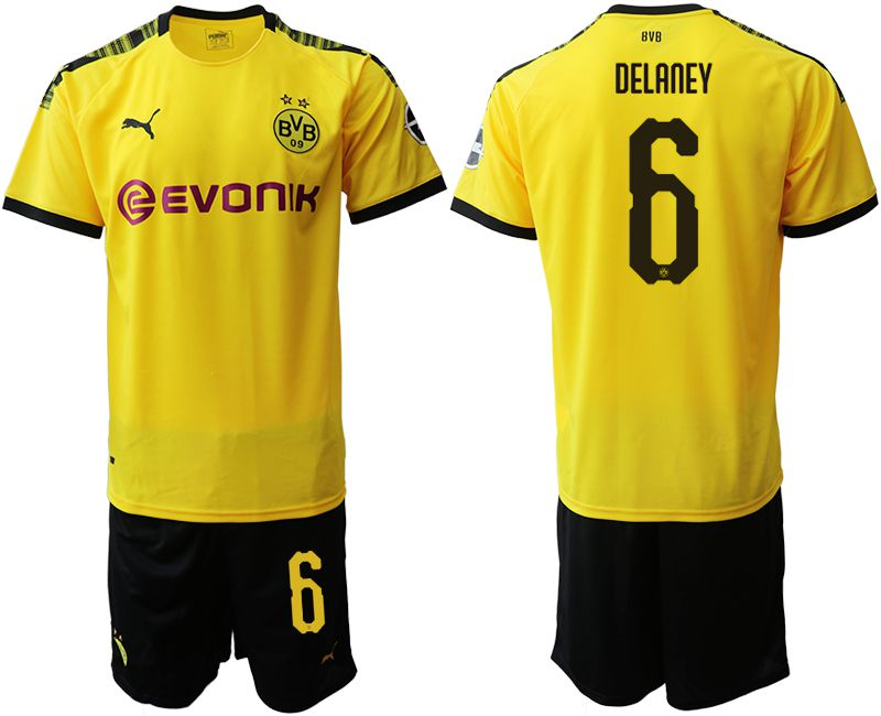 Men 2019-2020 club Dortmund home 6 yellow Soccer Jerseys
