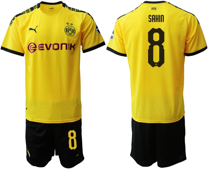 Men 2019-2020 club Dortmund home 8 yellow Soccer Jerseys