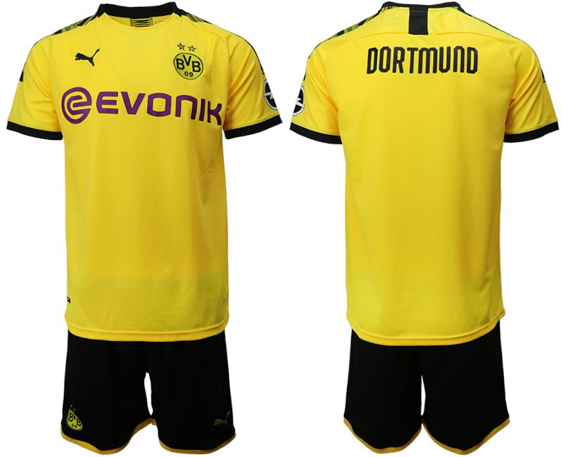 Men 2019-2020 club Dortmund home yellow Soccer Jerseys(2)