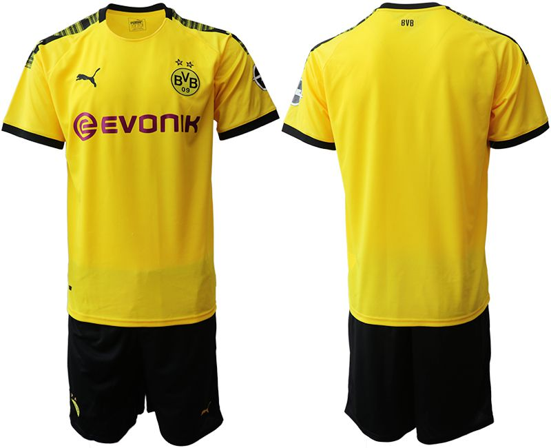 Men 2019-2020 club Dortmund home yellow Soccer Jerseys