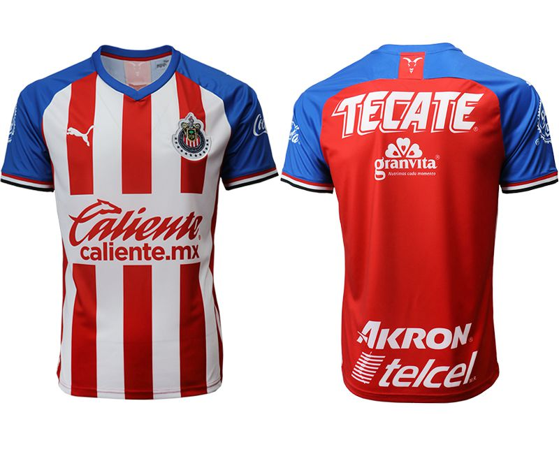 Men 2019-2020 club Guadalajara home aaa version red Soccer Jerseys
