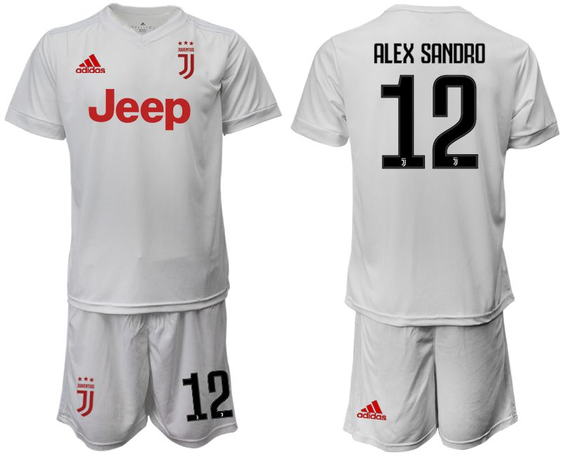 Men 2019-2020 club Juventus away white 12 Soccer Jerseys