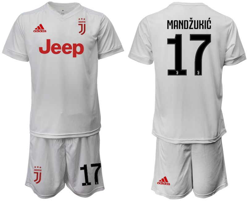 Men 2019-2020 club Juventus away white 17 Soccer Jerseys