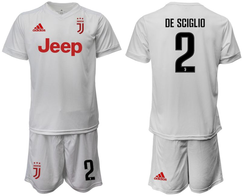 Men 2019-2020 club Juventus away white 2 Soccer Jerseys