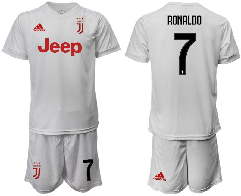 Men 2019-2020 club Juventus away white 7 Soccer Jerseys