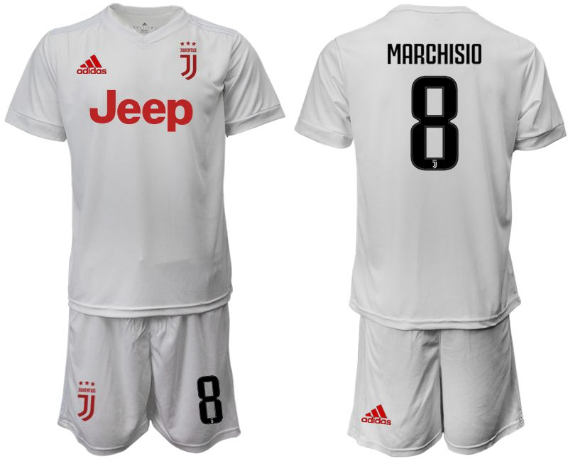 Men 2019-2020 club Juventus away white 8 Soccer Jerseys