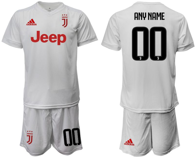 Men 2019-2020 club Juventus away white customized Soccer Jerseys