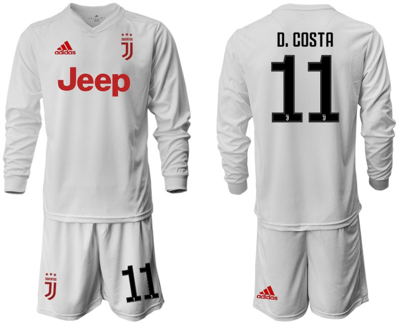 Men 2019-2020 club Juventus away white long sleeve 11 Soccer Jerseys