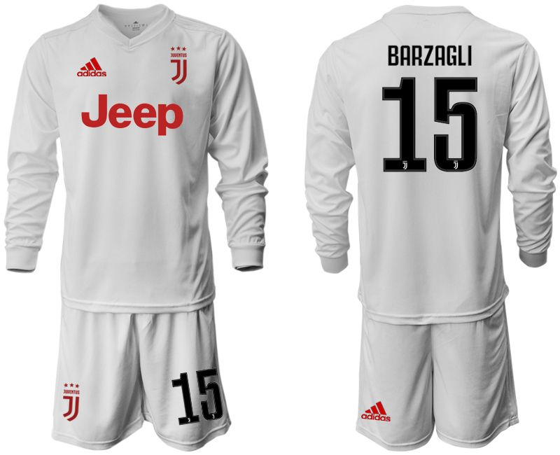 Men 2019-2020 club Juventus away white long sleeve 15 Soccer Jerseys