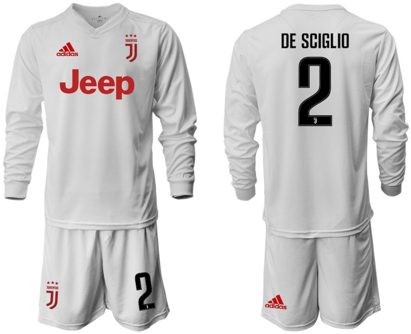 Men 2019-2020 club Juventus away white long sleeve 2 Soccer Jerseys