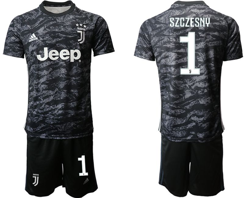 Men 2019-2020 club Juventus black goalkeeper 1 Soccer Jerseys