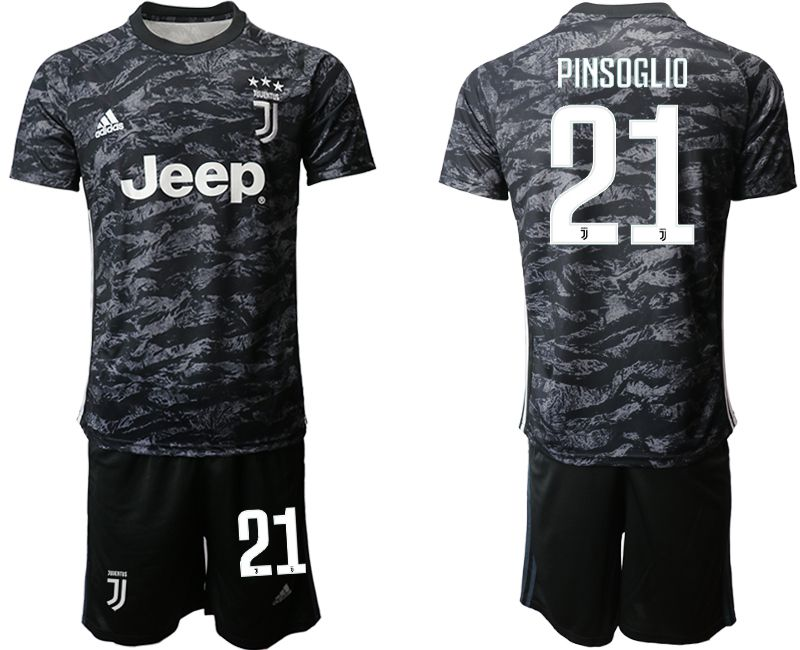 Men 2019-2020 club Juventus black goalkeeper 21 Soccer Jerseys