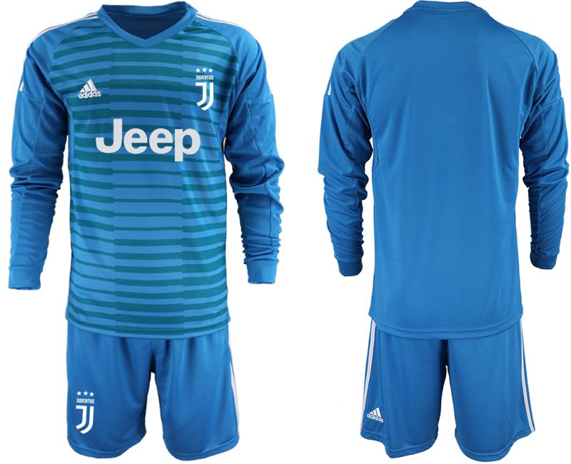Men 2019-2020 club Juventus blue goalkeeper Long sleeve Soccer Jerseys