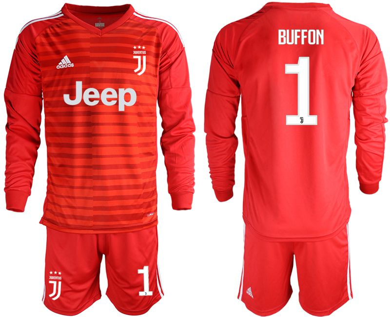 Men 2019-2020 club Juventus red long sleeve goalkeeper 1 Soccer Jerseys1