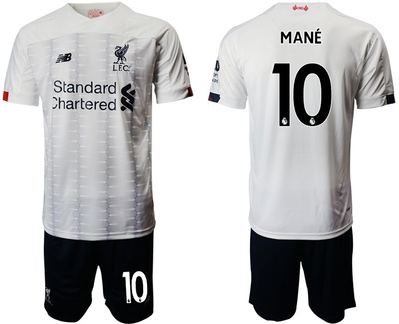 Men 2019-2020 club Liverpool away 10 white Soccer Jerseys