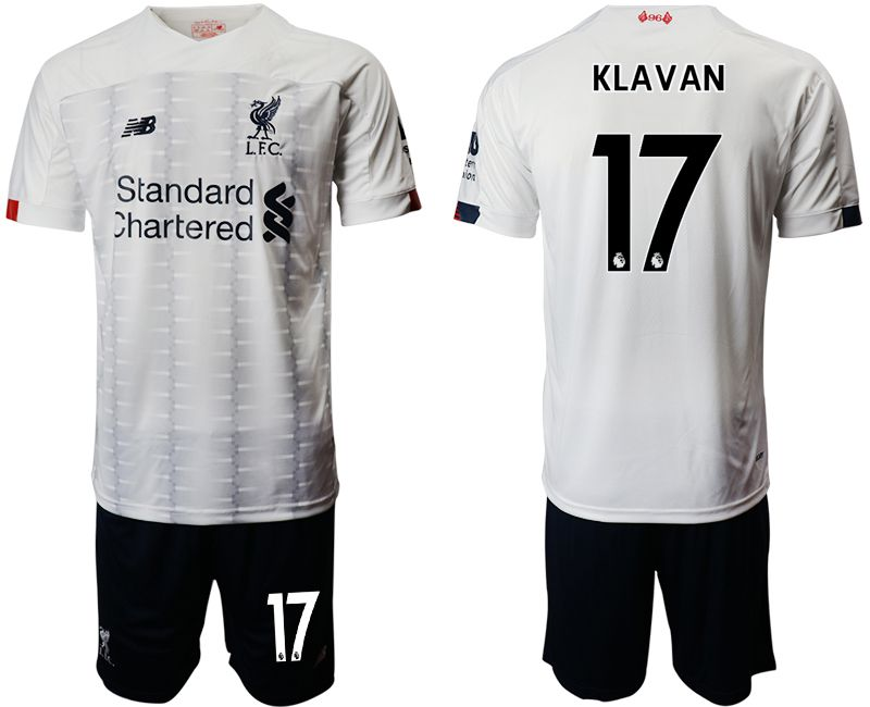 Men 2019-2020 club Liverpool away 17 white Soccer Jerseys