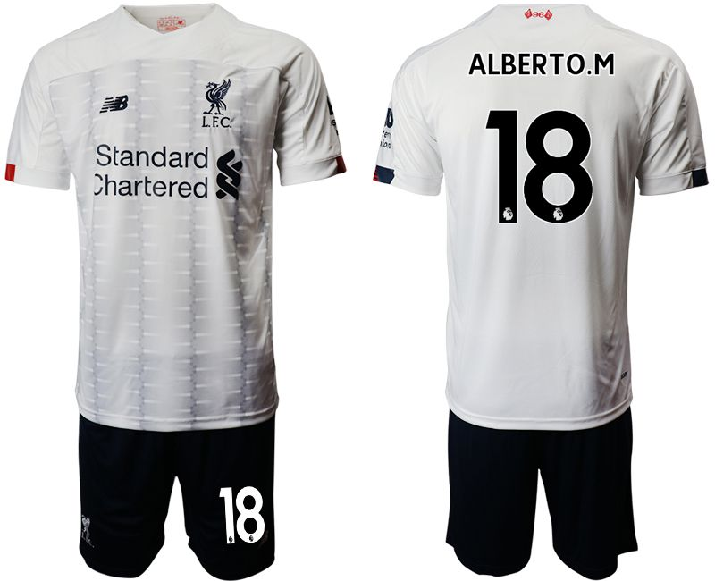 Men 2019-2020 club Liverpool away 18 white Soccer Jerseys