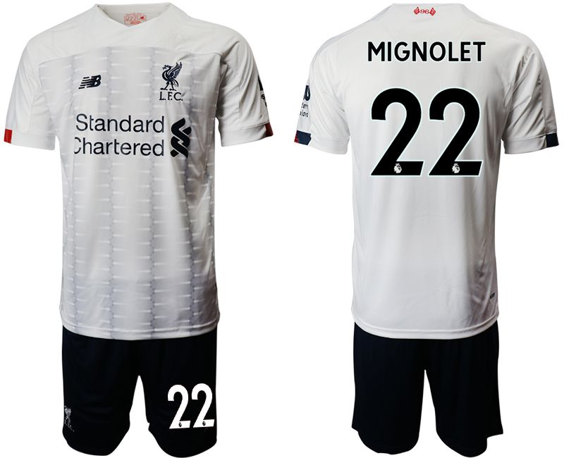 Men 2019-2020 club Liverpool away 22 white Soccer Jerseys
