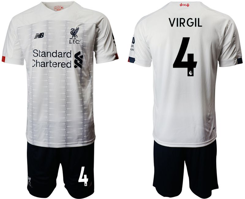 Men 2019-2020 club Liverpool away 4 white Soccer Jerseys