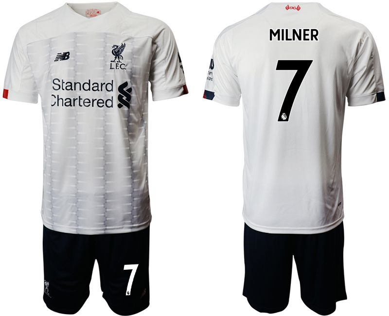Men 2019-2020 club Liverpool away 7 white Soccer Jerseys